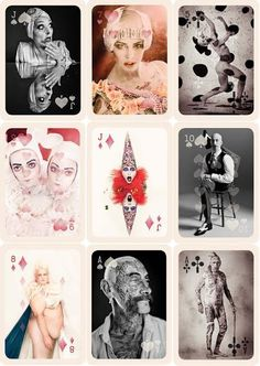 With models form the agency UGLY Matilda created a pack of playing cards as a celebration of human diversity. The images are part of her Human Zoo series