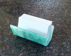 Business Card Holder, Green Marbled Design   by InFashionGlass.etsy.com ~~Click here for purchase details: https://www.etsy.com/listing/211276161/business-card-holder-green-marbled?utm_source=Pinterest&utm_medium=PageTools&utm_campaign=Share