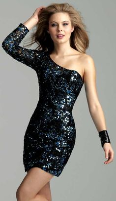 Clarisse Short Sequin #Cocktail #Dress
