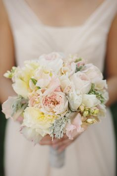 Pale Pink and Yellow Bouquet | photography by http://thismodernromance.com | floral design by http://nancyliuchin.com/