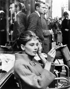 Audrey Hepburn on the set of Blake Edwards' Breakfast at Tiffany's, 1961