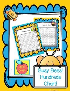 Busy Bees - Hundreds Charts by MCA Designs | Teachers Pay Teachers