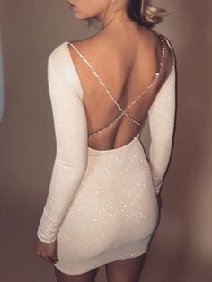 Sexy Creamy White Sequins Homecoming Dress,Tight Long Sleeves Mini Homecoming Party Dress,Custom Made Cocktail · muttie dresses · Online Store Powered by Storenvy Trendy Dresses, Elegant Dresses, Sexy Dresses, Cute Dresses, Dress Outfits, Evening Dresses, Formal Dresses, Short Tight Dresses, Summer Dresses