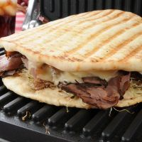 Roast Beef and Cheese Panini