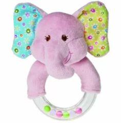 Baby Shower Toy Elephant Rattle Pink Girl Travel Gift Newborn Infant New 719771379009 Elephant Baby Blanket, Pink Elephant, Colorful Elephant, Elephant Ring, Baby Play, Baby Toys, Kids Toys, Baby Shower Presents, Baby Rattle