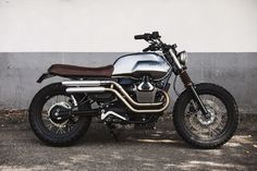 Moto Guzzi V7 Scrambler by BAAK Motocyclettes workshop.