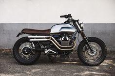 Moto Guzzi V7 Scrambler by BAAK Motocyclettes workshop.