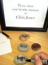 "Memory stones, the perfect personalized funeral gift. ""In loving memory"" engraved on one side, the other side blank to be filled in with personalized messages by those attending the #funeral. #gifts #memorial #memorystones"