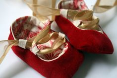 Baby Ballet Shoes Tutorial - The Sewing Rabbit