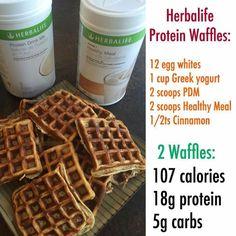 Herbalife Protein Waffles