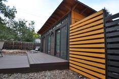 www.studio-shed.com Want this ground level deck outside the Studio Shed work shop in the backyard. // shed | modern | studio | yard | deck | landscaping