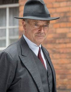 Michael Kitchen as Detective Foyle in PBS Masterpiece Theatre 'Foyle's War'. He is a brilliant actor.