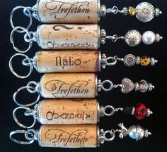 Custom wine cork key chains available in the Trefethen Family Vineyards Tasting Room - Napa Valley