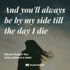 Zara Larsson & MNEK - Never Forget You Musixmatch LyricsCard