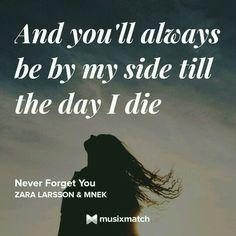 Zara Larsson & MNEK - Never Forget You Musixmatch LyricsCard