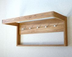 Storage :: Hanging :: Solid Oak Infinity Wall Hanger - Futon Company | Futons | Sofa Beds | Beds | Storage Furniture | Mattresses
