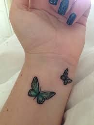 butterfly wrist tattoo designs - Google Search