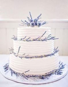 Lavender wedding cake with fresh one decorated. Lavender wedding cake decorated with fresh lavender Floral Wedding Cakes, Purple Wedding Flowers, Wedding Cake Rustic, Wedding Vintage, Lavender Wedding Cakes, Lavender Weddings, Rustic Cake, Cake Wedding, Scottish Wedding Cakes