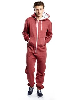 Burgundy Plain Onesie - Mens Onesies - Clothing - Burton