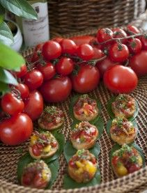 Italian BLT appetizers with HR Heirloom Tomatoes...yumm!