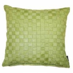 Suede Trellis Cushion Cover, Sage, 45 x 45 Cm