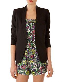 Fashion Simple Solid Color Stand Collar Slim Women Blazer Jacket