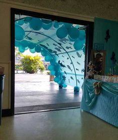 """Sometimes, kid's room decor needs to change according to the season, such as when it is getting into summer, the """"under the sea"""" theme would be perfect Under The Sea Theme, Under The Sea Party, Under The Sea Decorations, Ocean Party Decorations, Table Decorations, Theme Noel, Ocean Themes, Mermaid Birthday, Birthday Kids"""