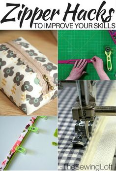 Sometimes zipper installation is tricky but I've put together an amazing list of 11 diy zipper hacks to help improve your sewing and zipper installation skills. Sewing Hacks, Sewing Tutorials, Sewing Crafts, Sewing Tips, Sewing Basics, Diy Crafts, Sewing Essentials, Basic Sewing, Dress Tutorials