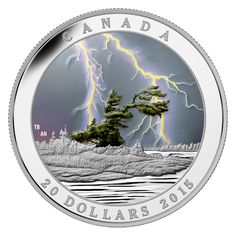 1 oz. Fine Silver Glow-in-Black-Light Coin – Weather Phenomenon: Summer Storm