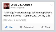 So true!! Fuck marriage.