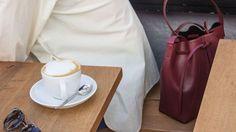 ALESYA ORLÓVA / GEO Bucket Bag mini bordeaux /  minimal, accessory, handbag, simplicity / HOUSEOFHRVST