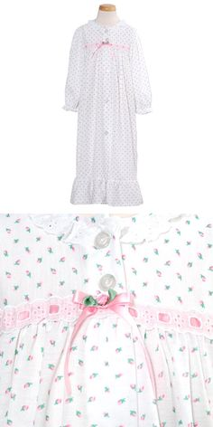 Laura Dare Toddler Little Girls Size 2T-14 Classic Rosebud Nightgown -  Classic pajamas for 7ed3e4010