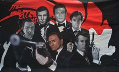 Hand Painted James Bond Backdrops on Canvas