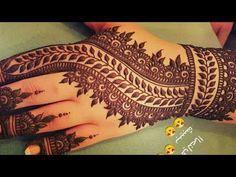 Stunning and beautiful mehndi design for backhand |easy mehndi designs for beginner | - YouTube