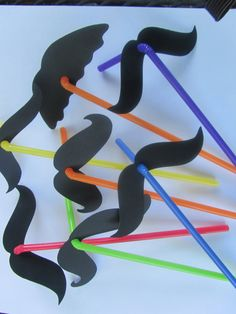 12 Quantity  Fun Mustache Straws Fiesta Party by CelebrationPaper, $6.50