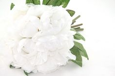 White Peony Bouquet - Artificial Flower Bouquet, Artificial Flower, Wedding Bouquet, Bridesmaid Bouquet, Clutch Bouquet - ITEM 0505 by SimplySerraFloral on Etsy https://www.etsy.com/listing/178306452/white-peony-bouquet-artificial-flower