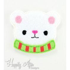 Winter Bear Feltie Embroidery Design