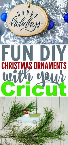 I love getting crafty at Christmas and making Fun DIY Christmas Ornaments With Your Cricut is a great way to get into the holiday spirit. I hope you enjoy these fun holiday craft ideas. Christmas Crafts For Kids, Diy Christmas Ornaments, Simple Christmas, Holiday Crafts, Holiday Fun, Christmas Gifts, Cool Diy, Fun Diy, Diy For Teens