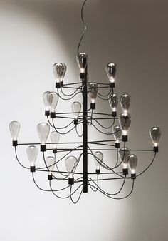 Crystal and steel pendant lamp POSEIDON by Cattelan Italia