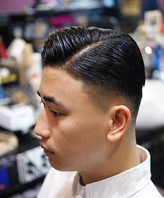 Pomade Hairstyle Men, Hair Pomade, Slick Hairstyles, Slicked Back Hair, Barber Shop, Hair Beauty, Man Shop, Fashion, Latest Technology