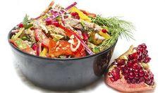 Фото к рецепту: Салат  Тбилиси  с фасолью и мясом
