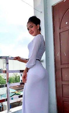 I Began Using Neckties To Create New Fashion And Home Decor Burmese Girls, Myanmar Women, Arab Girls Hijab, Beautiful Asian Women, Sexy Asian Girls, Asian Woman, Ao Dai, Asian Beauty, Sexy Dresses