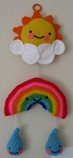 Crocheted Mobile by Crafting with Cat Hair, via Flickr