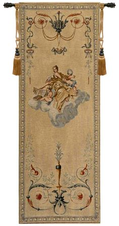 Portiere Gold Lady French Tapestry