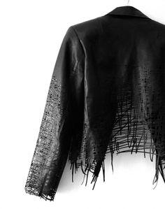 elvira t hart _leather jacket back_laser cut