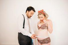 .Estilo Retrô Rock.: Ensaio fotográfico de uma gestante Pin-Up - Amor em Foco!
