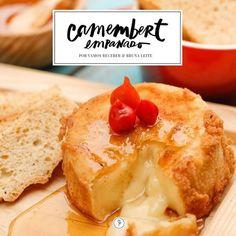 Receita: aperitivo de queijo camembert empanado - Casa Vogue | Vamos Receber