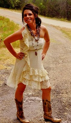 How to dress with cowboy boots: Wear them with your favorite dress ...