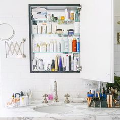 The medicine cabinet makes for an excellently manageable weekend editing project. Just saying. #mylivesimply