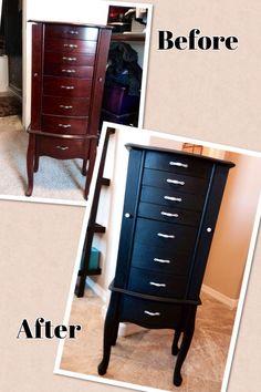 Refurbished jewelry armoire - By Jen :)